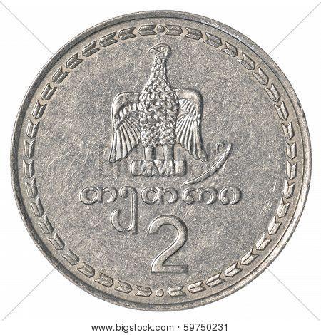 2 Georgian Tetri Coin