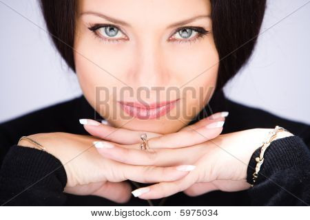 Young Woman With Shittish Look