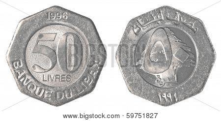 50 Lebanese Pound Coin