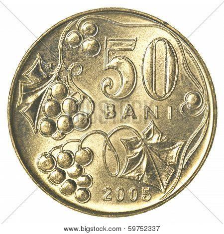 50 Moldovan Bani Coin