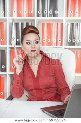 Business Woman Having Idea