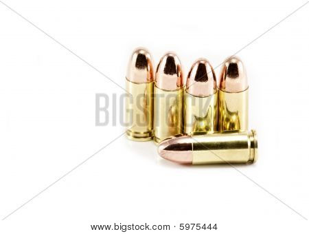 Five 9Mm Bullets