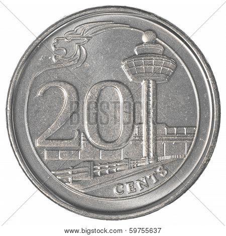 20 Singaporean Cents Coin