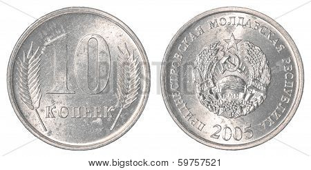 10 Transnistrian Kopeck Coin