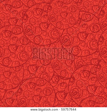 Round Vector Abstract Rose Seamless Wallpaper Background Pattern