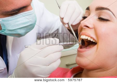 Dentista e paciente