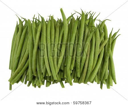 stack of fresh french beans