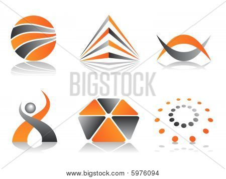 Orange and Grey Logos
