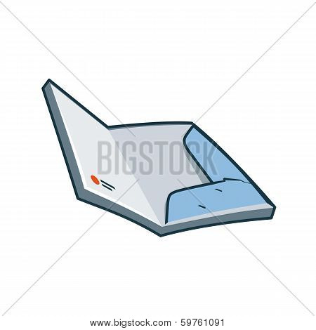 Paper folder icon in cartoon style