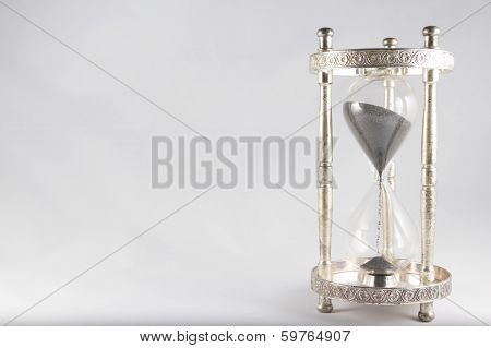 Hourglass - Old Fashioned Hourglass, Black Sand, Full, Right Of Image