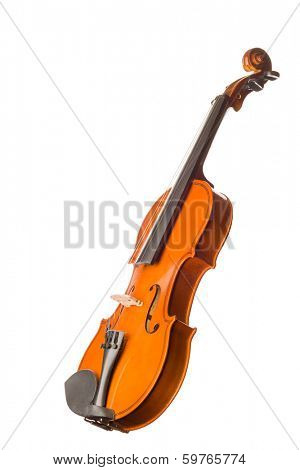 Violin isolated over white background
