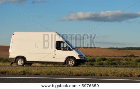 White Minitruck