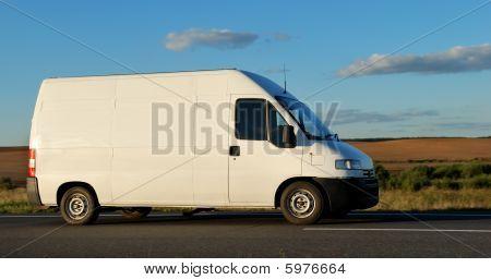 White Delivery Minitruck