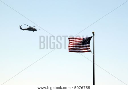Usa Flag Helicopter