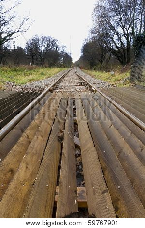 Railway Or Railroad Track