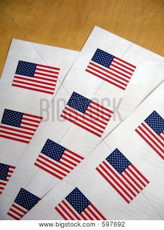 4th July Mini Flags