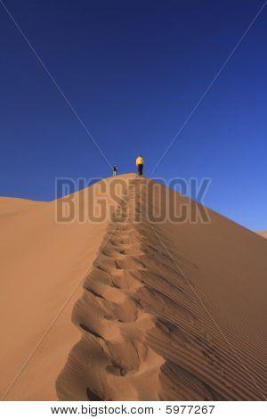 Sossusvleiand Climbing Big Sand Dune