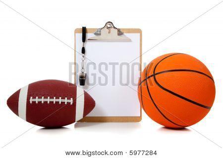 Basketball und american-Football unterbleiben