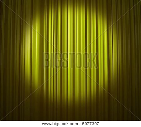 Lime Curtain With Spotlight