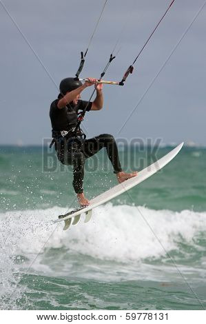 Man Gets Airborne Parasail Surfing In Florida