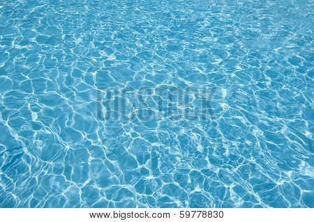 Rippling Water In A Tropical Pool Abstract