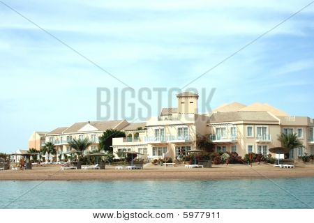 Exterior of luxurious hotel in El Gouna