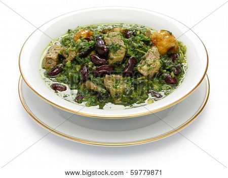ghormeh sabzi, Persian herb stew, iranian nation dish