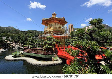 Chi Lin Nunnery and Chinese garde
