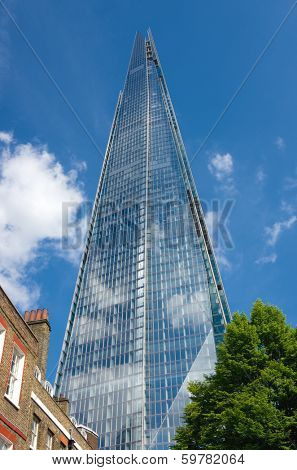 LONDON, ENGLAND - MAY 25: view Shard building from St. Thomas Street on May 25, 2013 in London. The Shard, the tallest building in Europe, opened to the public on February 2013.