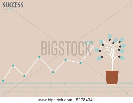 Business graph. Vector illustration.