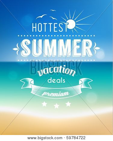 Summer vacations poster design - eps10
