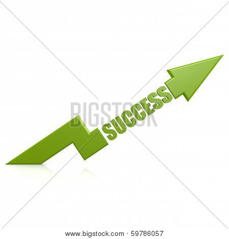 Success Arrow Up Green