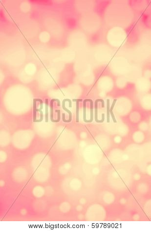 Golden Festive Blurred Background. Abstract Twinkled Bright Background With Bokeh Defocused Blur Gol