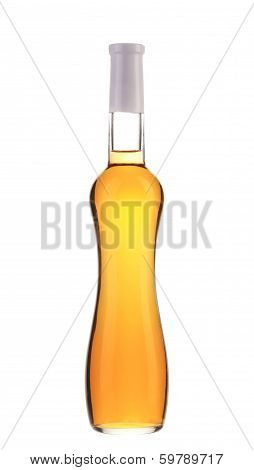 Full white wine bottle.