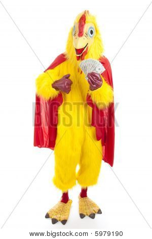 Chicken Man With Cash