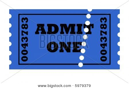 Admit One Perforated Ticket