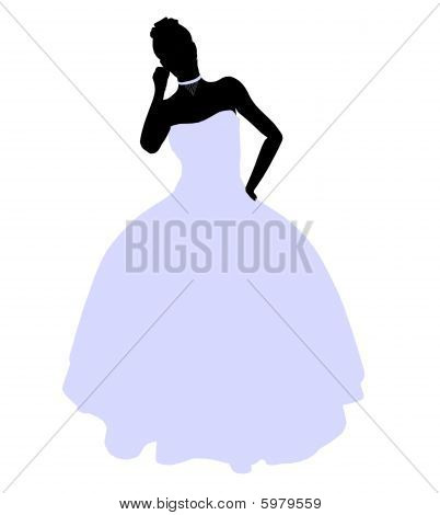 Female Wedding Silhouette