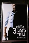 LOS ANGELES - FEB 12:  3 Days to Kill Poster at the