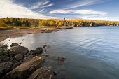Autumn color, North Shore, Lake Superior, Minnesota, USA