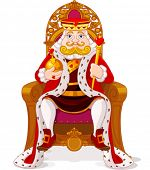 foto of scepter  - King sitting  on the throne - JPG