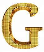 Rich Golden Cube Alphabet - G