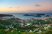 stock photo of thomas  - Virgin Islands St Thomas sunrise with colorful cloud - JPG