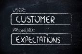 image of expectations  - user and password - JPG