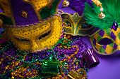 pic of carnivale  - Festive Grouping of mardi gras - JPG