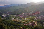 stock photo of shan  - The aerial view of Taihuai  - JPG