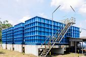stock photo of sedimentation  - Water filtration plant for water supply in Thailand - JPG