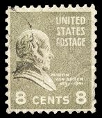 USA-CIRCA 1938: A postage stamp shows image portrait of Martin Van Buren the 8th President of the Un