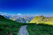 stock photo of bavaria  - Hiking in the Allg - JPG