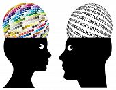 stock photo of cognitive  - Man and woman may have different ways of cognition and perception - JPG