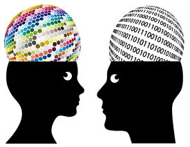 pic of cognitive  - Man and woman may have different ways of cognition and perception - JPG